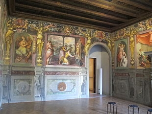 Casa_vasari_FI,_salone,_parete_02